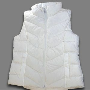 Land's End Off-White Down Vest, NWT